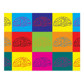 Neuroscience Pop Art Postcard