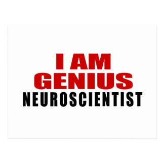 NEUROSCIENTIST DESIGNS POSTCARD