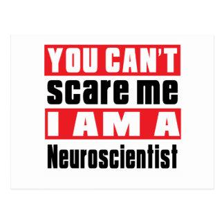 Neuroscientist scare designs postcard