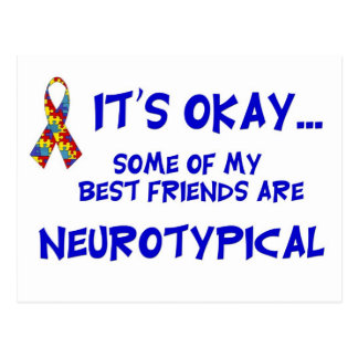 Neurotypical Friends Postcard