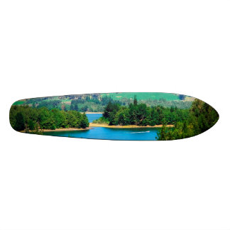 Neusa Lake and Boat, Colombia 19.7 Cm Skateboard Deck