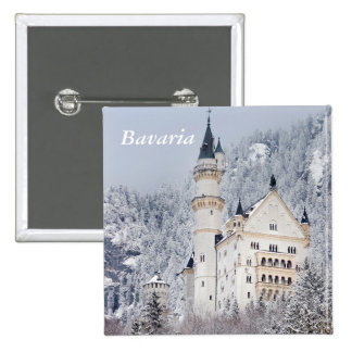 Neuschwanstein Castle 15 Cm Square Badge