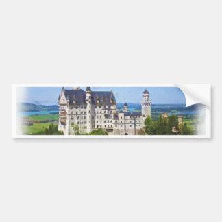 Neuschwanstein Castle Art Bumper Sticker