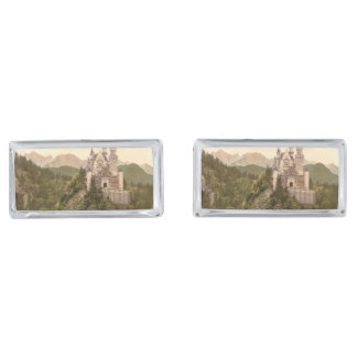 Neuschwanstein Castle, Bavaria, Germany Silver Finish Cufflinks