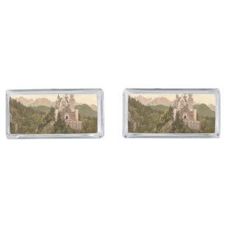 Neuschwanstein Castle, Bavaria, Germany Silver Finish Cufflinks