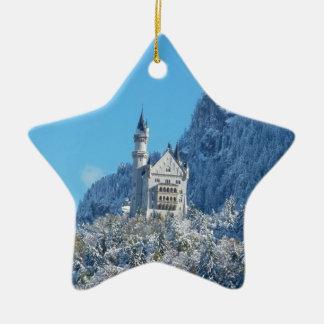 Neuschwanstein Castle, Bavarian Alps Ceramic Star Decoration