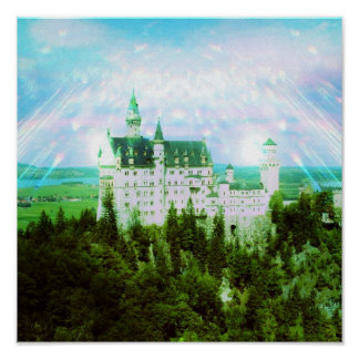 Neuschwanstein Castle - Fairy Dust Photo Edit Poster