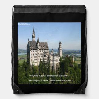 Neuschwanstein Castle & German Saying Backpack