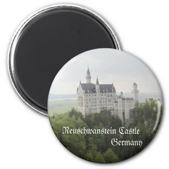 Neuschwanstein Castle, Germany 6 Cm Round Magnet