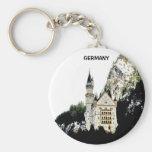 NEUSCHWANSTEIN CASTLE, GERMANY BASIC ROUND BUTTON KEY RING
