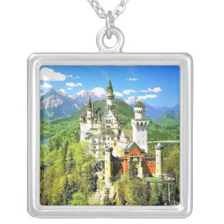 NEUSCHWANSTEIN CASTLE, GERMANY SILVER PLATED NECKLACE