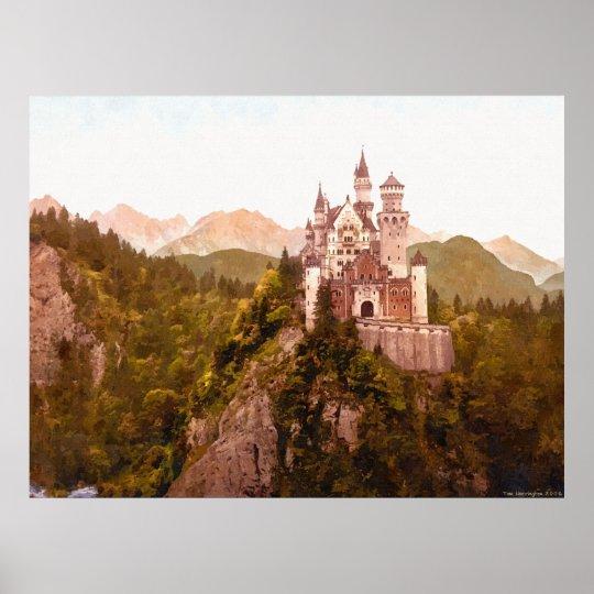 Neuschwanstein Castle II Poster