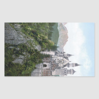 Neuschwanstein Castle Lithograph Rectangular Sticker