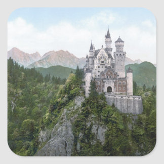 Neuschwanstein Castle Lithograph Stickers