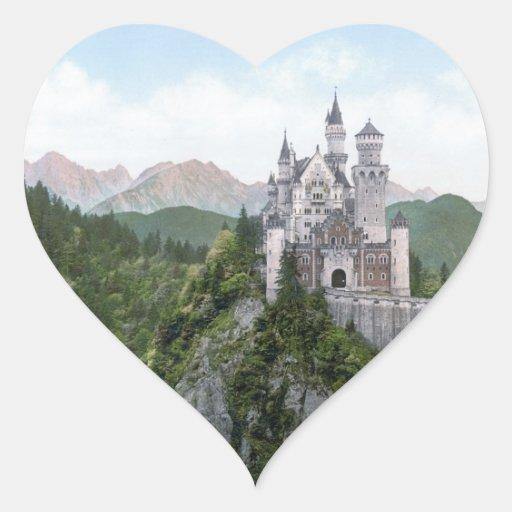 Neuschwanstein Castle Lithograph Sticker