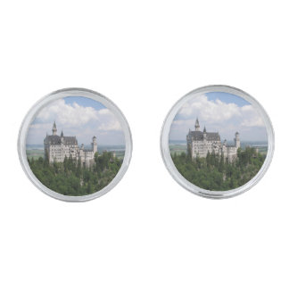 Neuschwanstein Castle Silver Finish Cufflinks