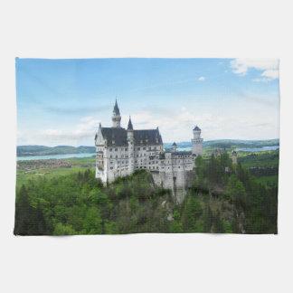 Neuschwanstein panorama tea towel