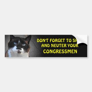 Neuter your CONGRESSMEN Bumper Sticker
