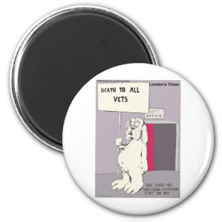 Neutered Dog Fights Back Funny Gifts & Tees Fridge Magnets