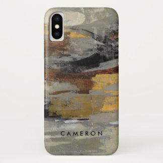 Neutral Abstract Gray Print   Silvia Vassileva iPhone X Case