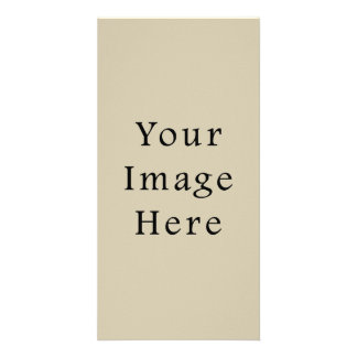 Neutral Almond Beige Color Trend Blank Template Custom Photo Card