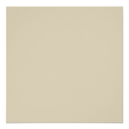 Neutral Almond Beige Color Trend Blank Template Invitation