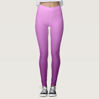 Neutral and Plain Gradient Pink Leggings