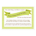 Neutral Baby Shower Book Insert Request Card Green Pack Of Chubby Business Cards