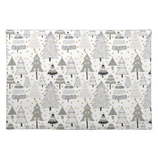 Neutral Christmas Tree Farm kitchen decor Placemat