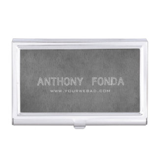 Neutral Color Rustic Cement Concret Masculine Business Card Holder