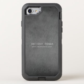 Neutral Color Rustic Cement Concrete Masculine OtterBox Defender iPhone 8/7 Case