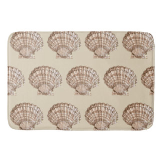 Neutral Color Seashell Bath Mat