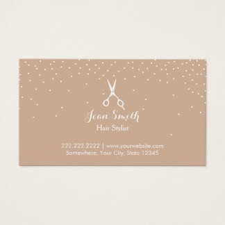 Neutral Confetti Dots Hair Stylist Appointment Business Card