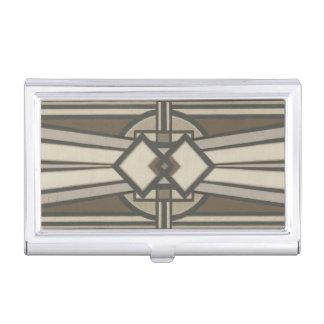 Neutral Deco Panel I Business Card Holder