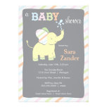 Neutral Elephant  |  Baby Shower Invitation