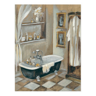 Neutral French Bathroom Postcard