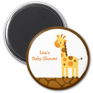 Neutral Giraffe Party Favor Magnets