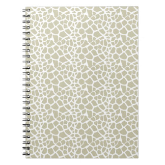 Neutral Giraffe Print Notebooks