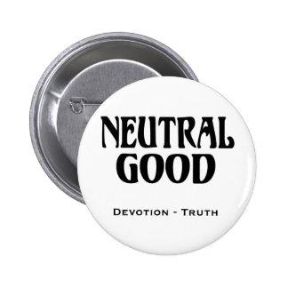 """""""Neutral Good"""" 6 Cm Round Badge"""