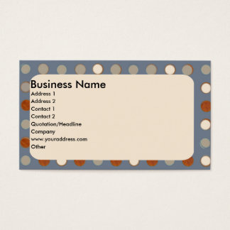 Neutral Gray Retro  with Brown and tan Business Card