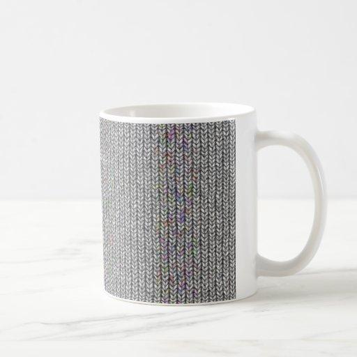 neutral knitwork coffee mugs