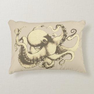Neutral Nautical Vintage Octopus Decorative Cushion