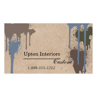 Neutral Paint Splatters and Brown Paper Business Card