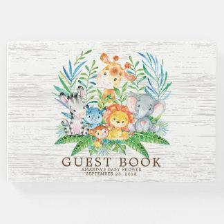 Neutral Safari Jungle Baby Shower Guest Book
