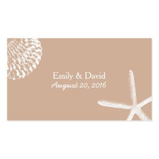 Neutral Seashells Beach Wedding Website Insert Pack Of Standard Business Cards