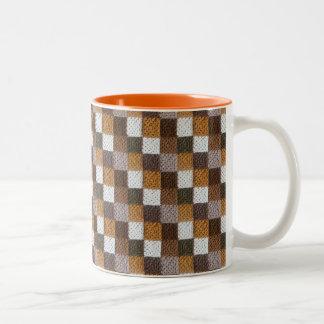 Neutral Squares Blanket 11 oz Two-Tone Mug