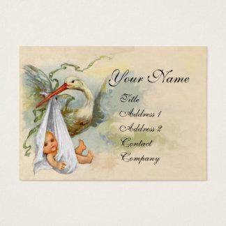 NEUTRAL WHITE STORK BABY SHOWER Pearl paper