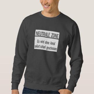 Neutrale Zone, Berlin Wall, Germany Sign Sweatshirt