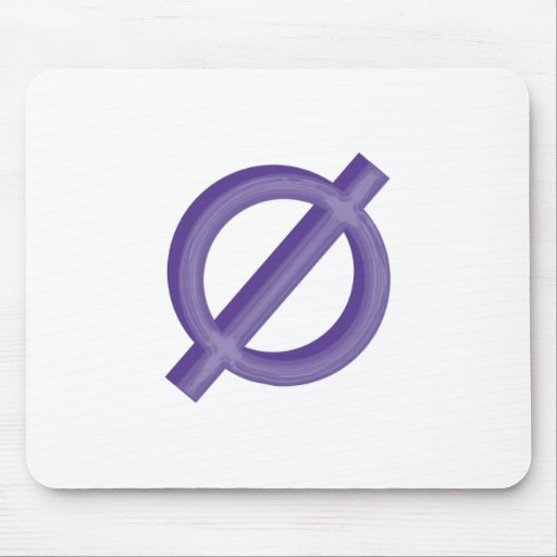 Neutrois in Purple Mouse Pad