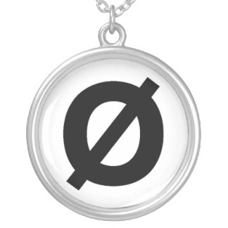 Neutrois symbol necklace